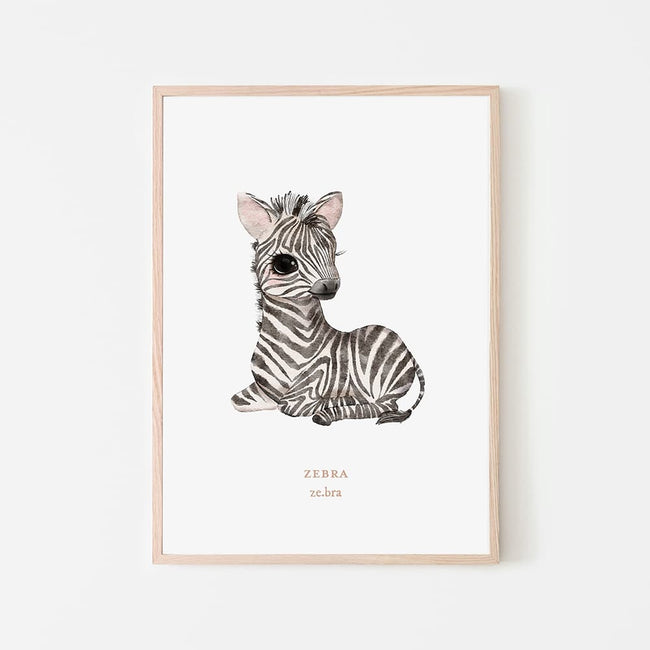 Watercolour Animals - Zebra