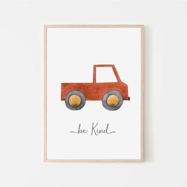 Watercolour Vehicles - Red Truck