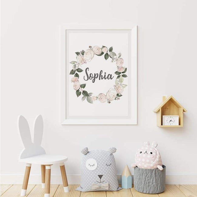 Woodland Animals Pink - Personalised Name