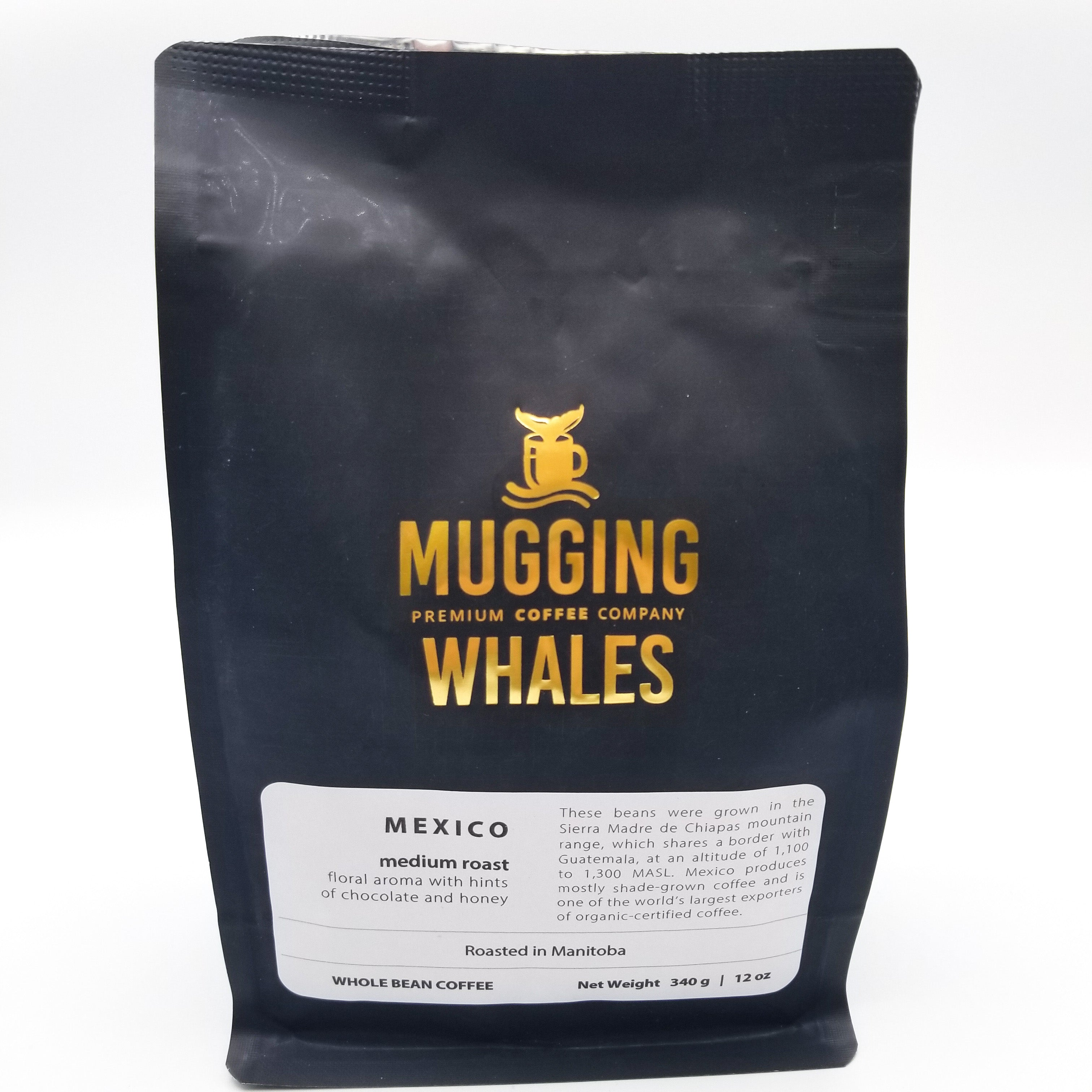 Mexico Medium Roast Coffee 340g by Mugging Whales