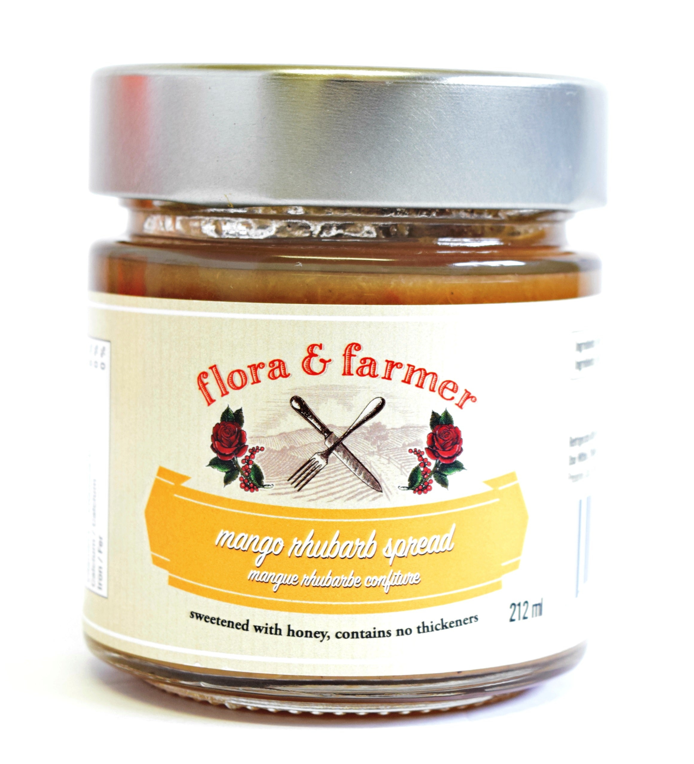Mango Rhubarb Spread 212g by Flora & Farmer