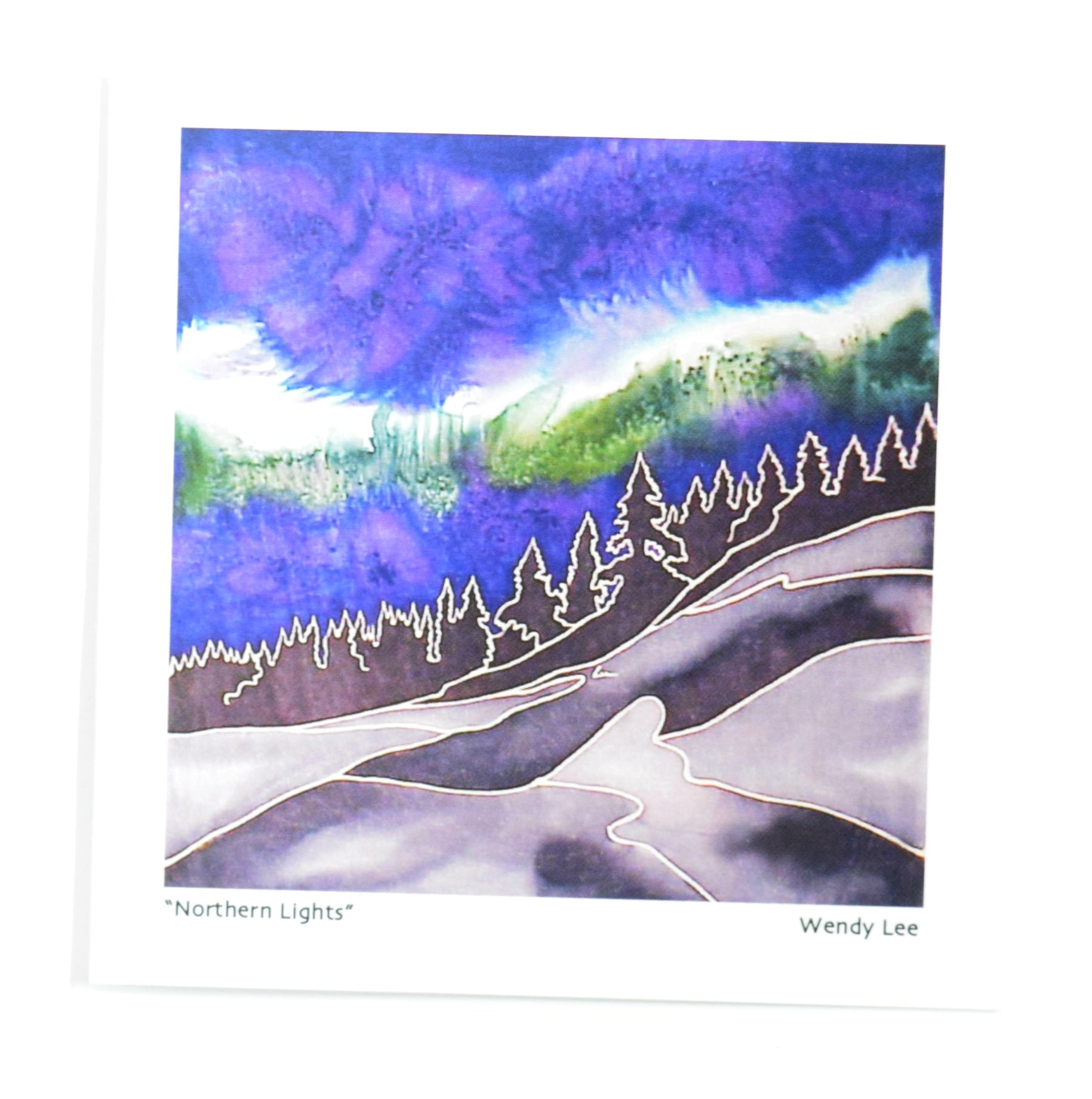 Northern Lights Card by Silkwinds Art Cards