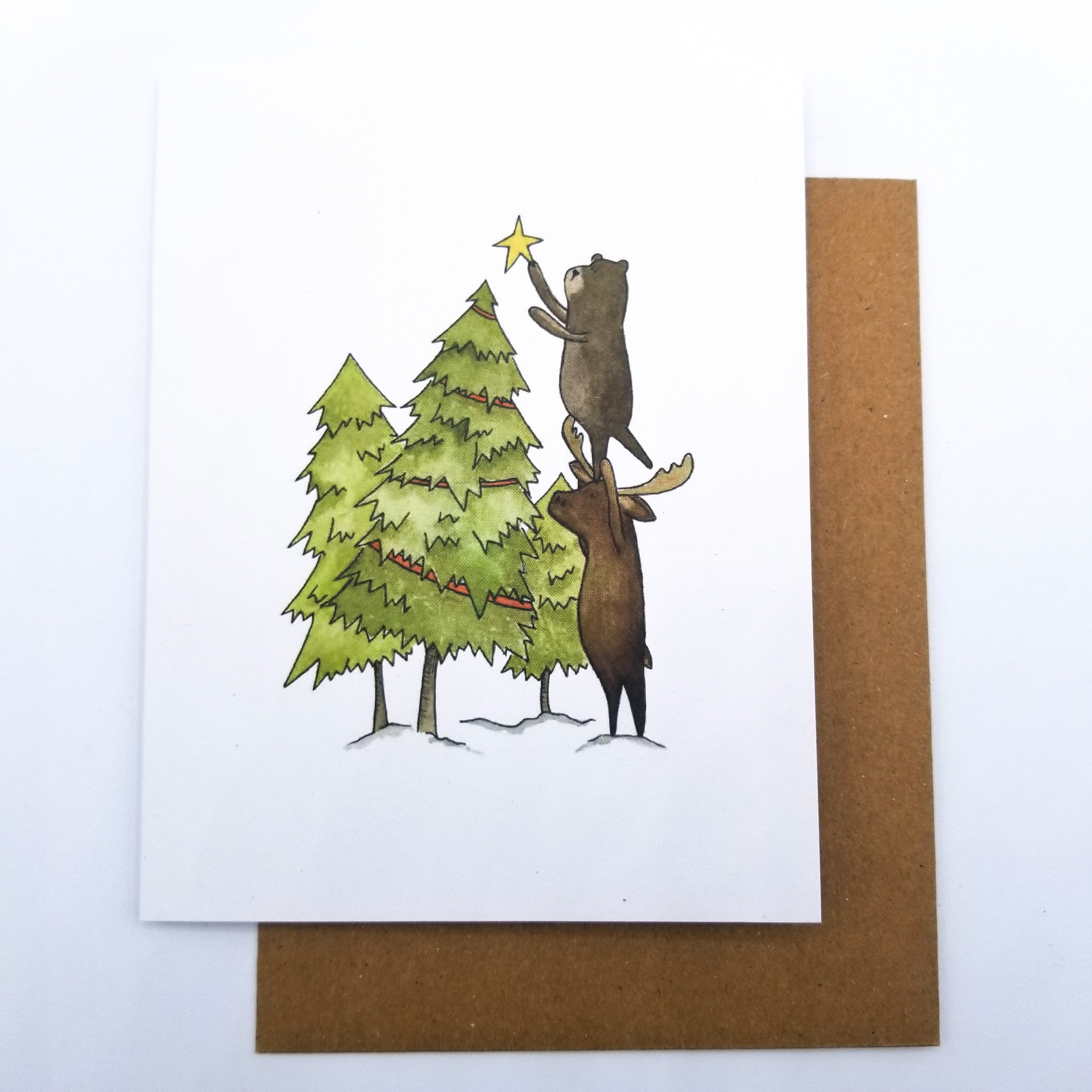 Crooked Christmas Greeting Card 4x5 by Paper Canoe