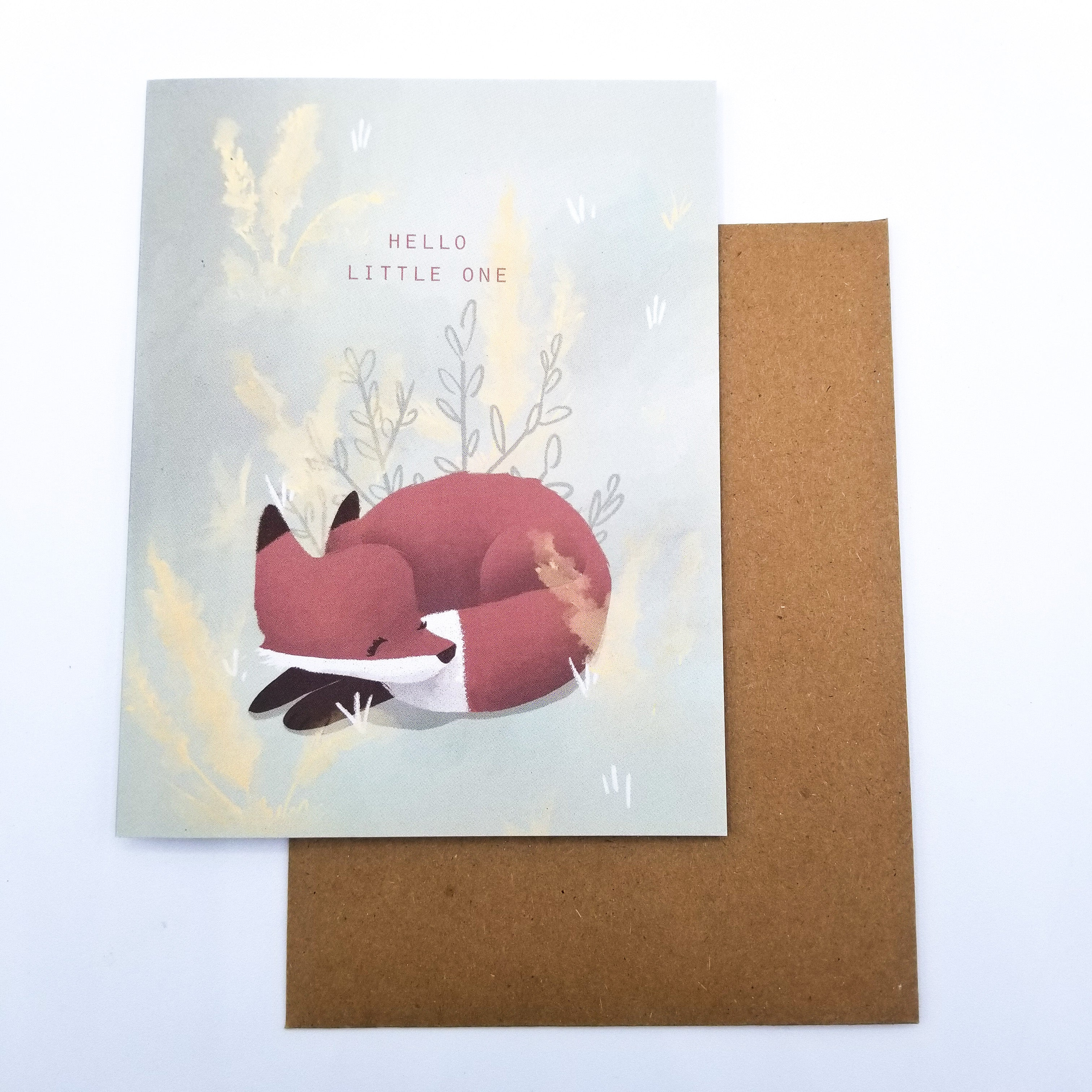 Hello Little One Greeting Card 4x5 by Paper Canoe