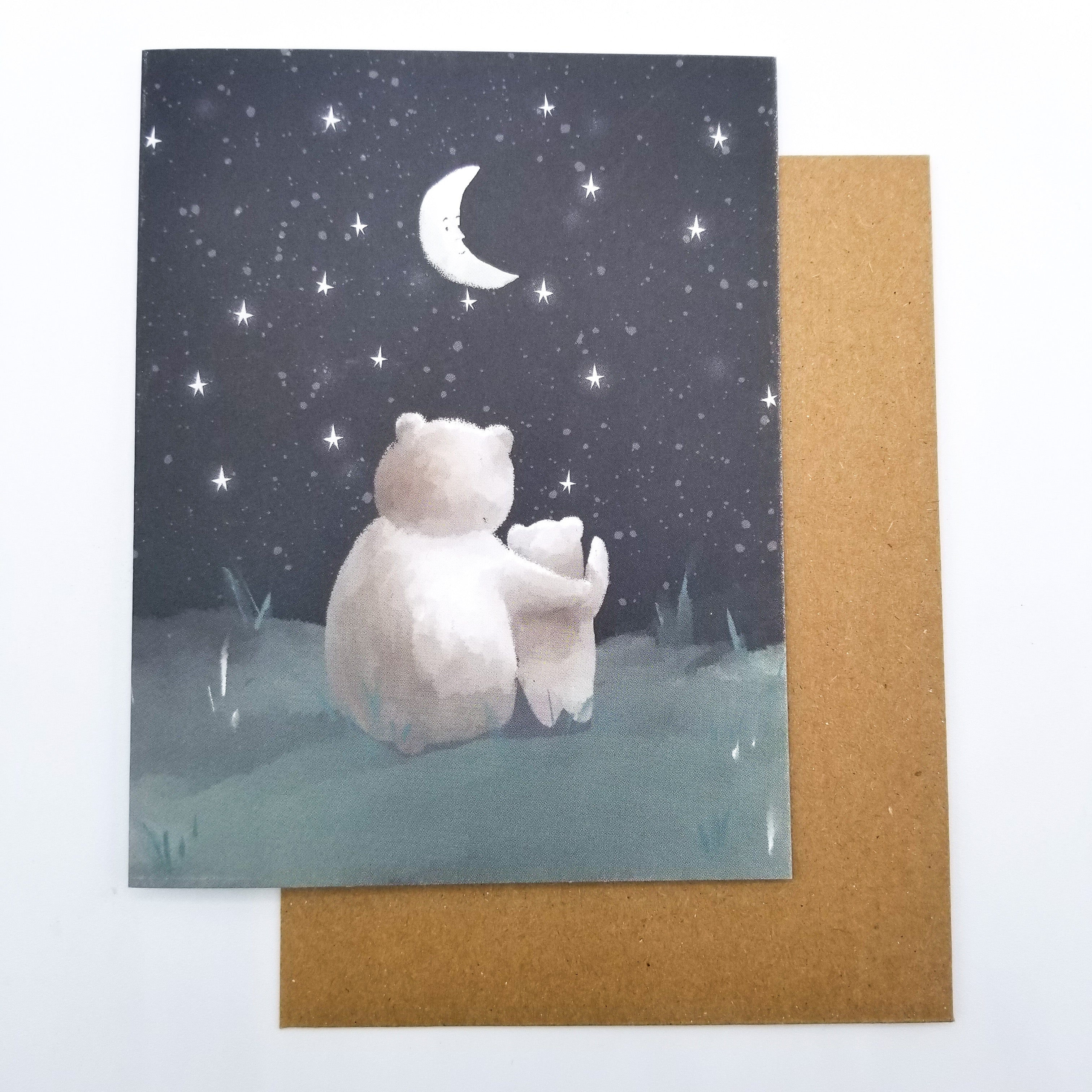 Stargazing Greeting Card 4x5 by Paper Canoe