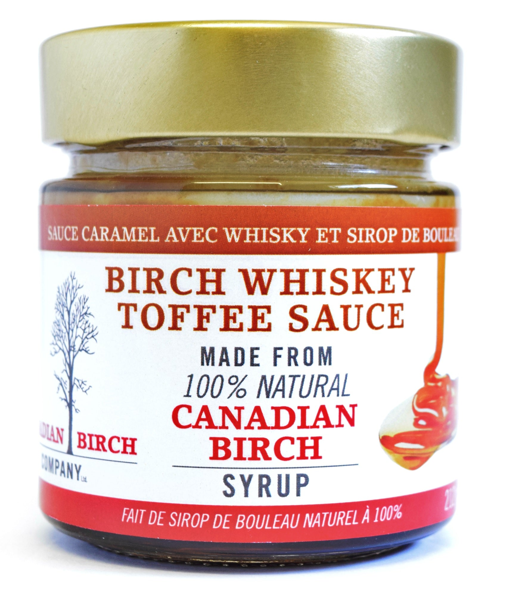 Birch Whiskey Toffee Sauce 212ml By The Canadian Birch Company