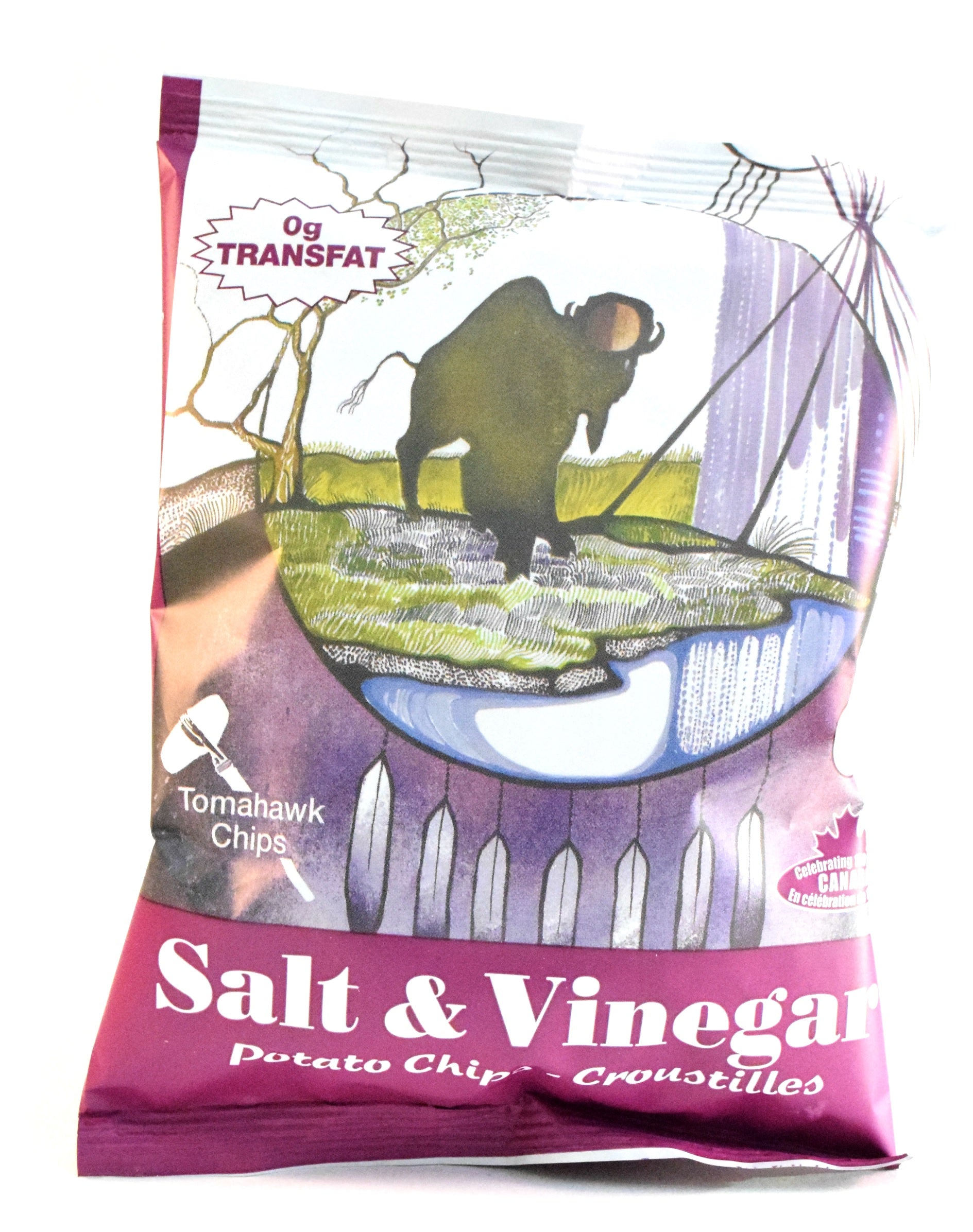 Salt & Vinegar Potato Chips 43g by Tomahawk