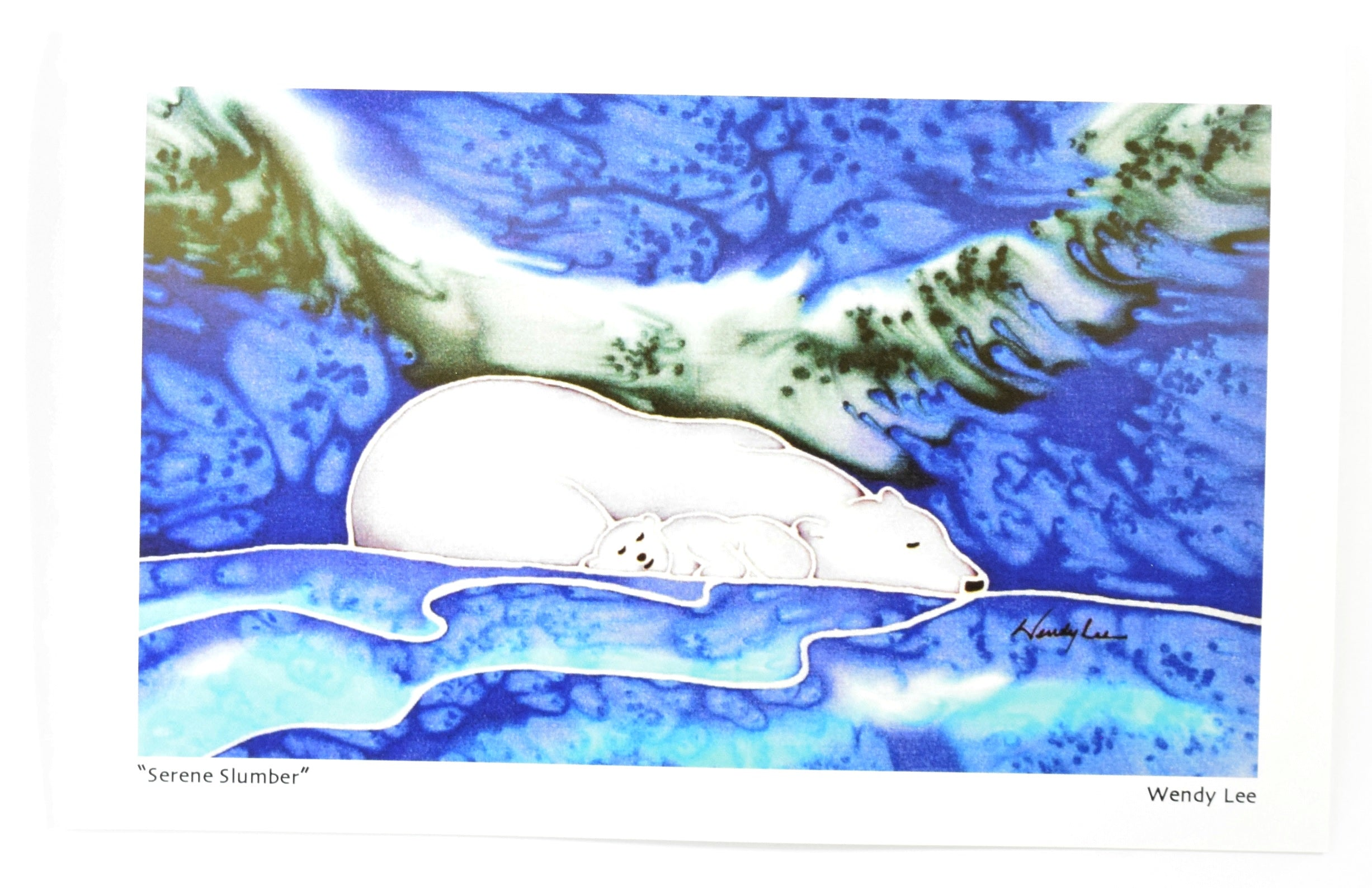 Serene Slumber Card by Silkwinds Art Cards