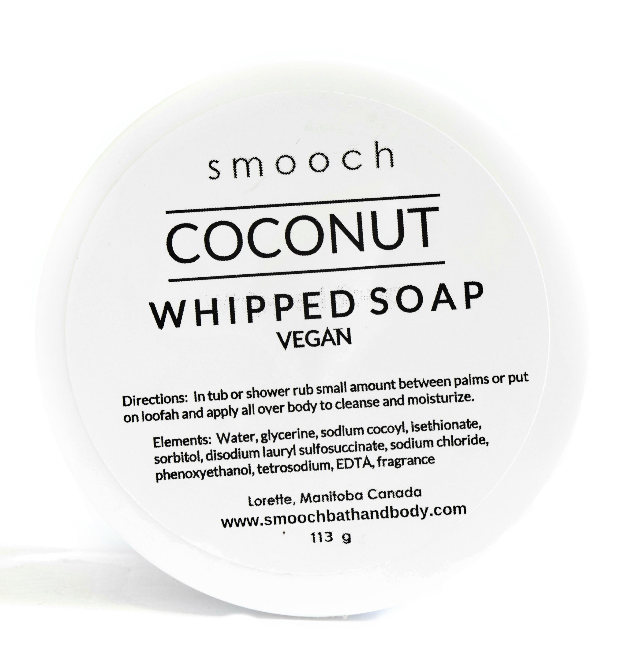 Coconut Whipped Soap 113g by SMOOCH Bath & Body