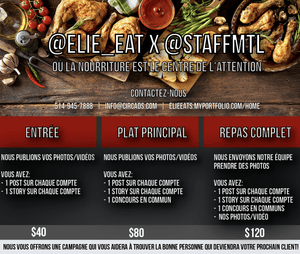 Marketing Elie_Eat X StaffMTL - Circads