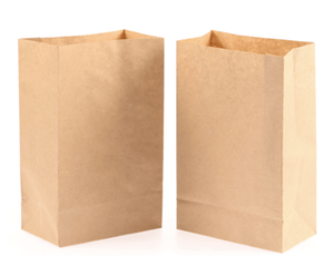 Sac Papier Kraft No. 1 (3,5 x 2,25 x 6,75'' ; 500/cs) - Circads