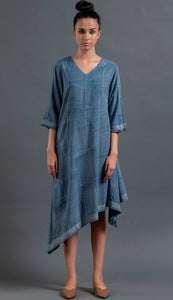 Indigo Asymmetric Dress