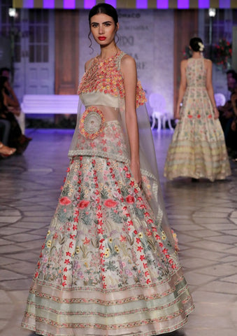 Ivory Phulwari Multi Embroidered Lehenga
