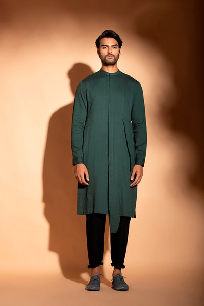 Teal Cotton Kurta