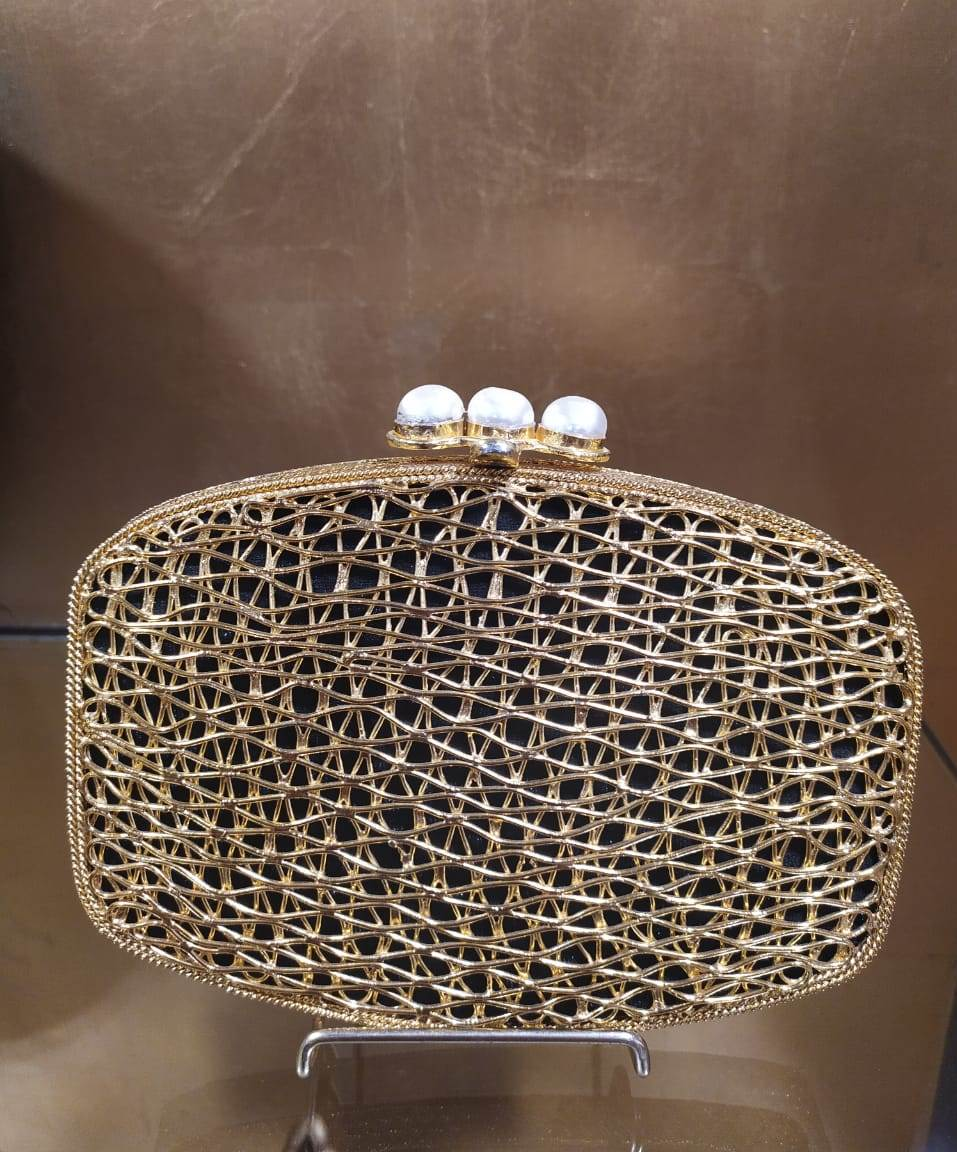 Gold Metal Clutch