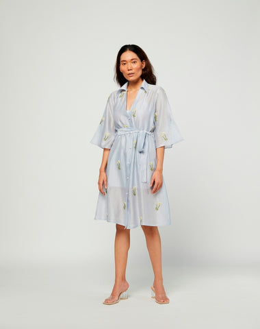 Ciel Embroidered Chanderi Dress