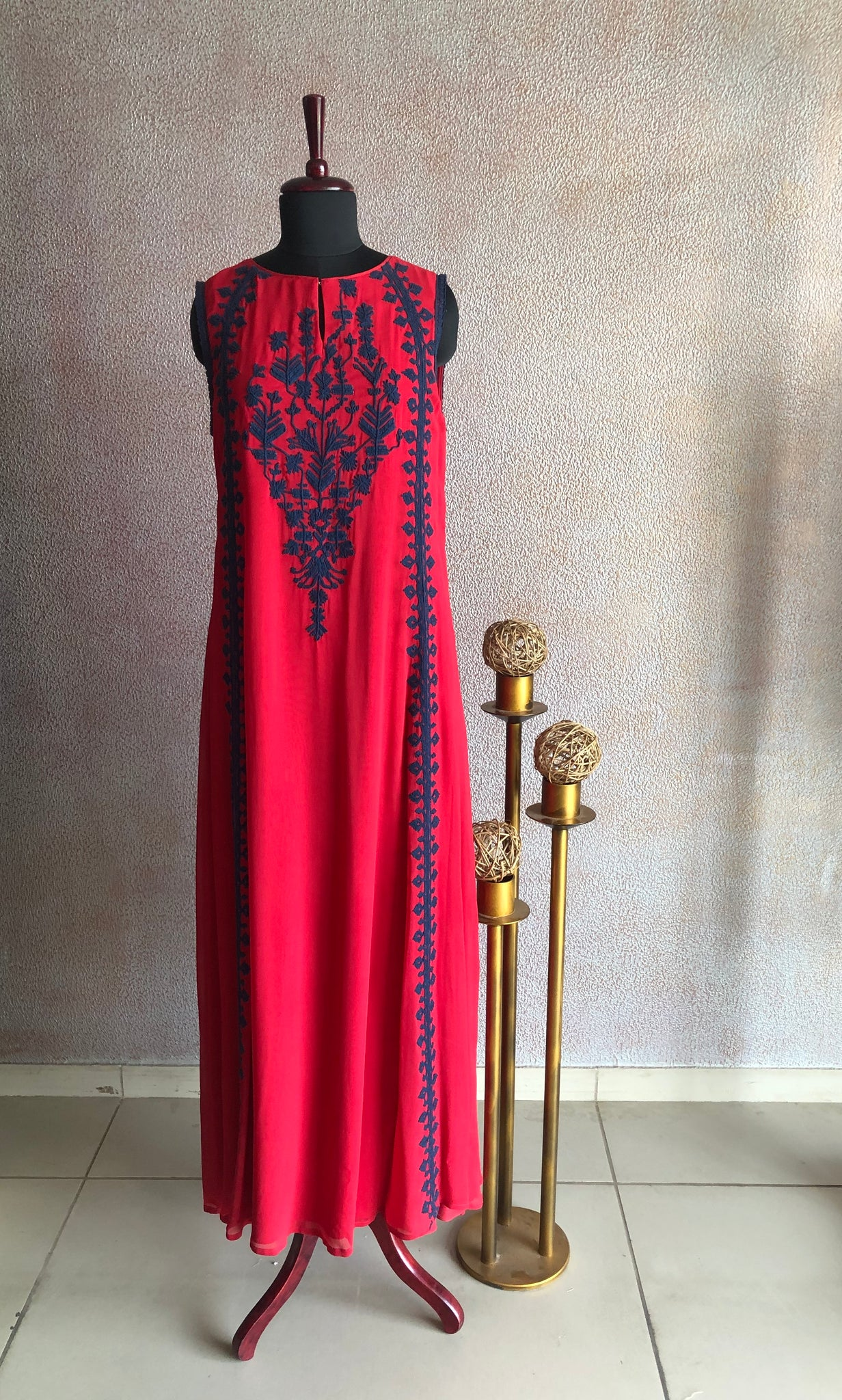VARUN NIDHIKA - Red Embroidered Dress