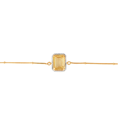 Yellow Jewel Brass Bracelet