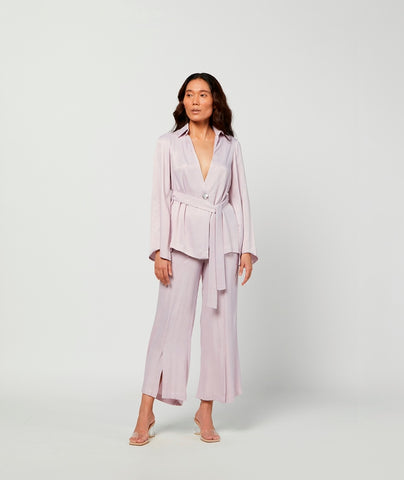 Lilac Breeze Silk Jacket
