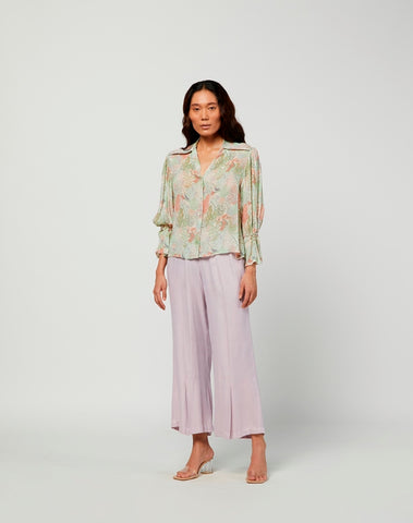 Terra Summer Print Silk Shirt