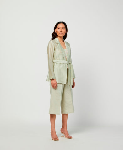 Moss Silk Chanderi Jacket