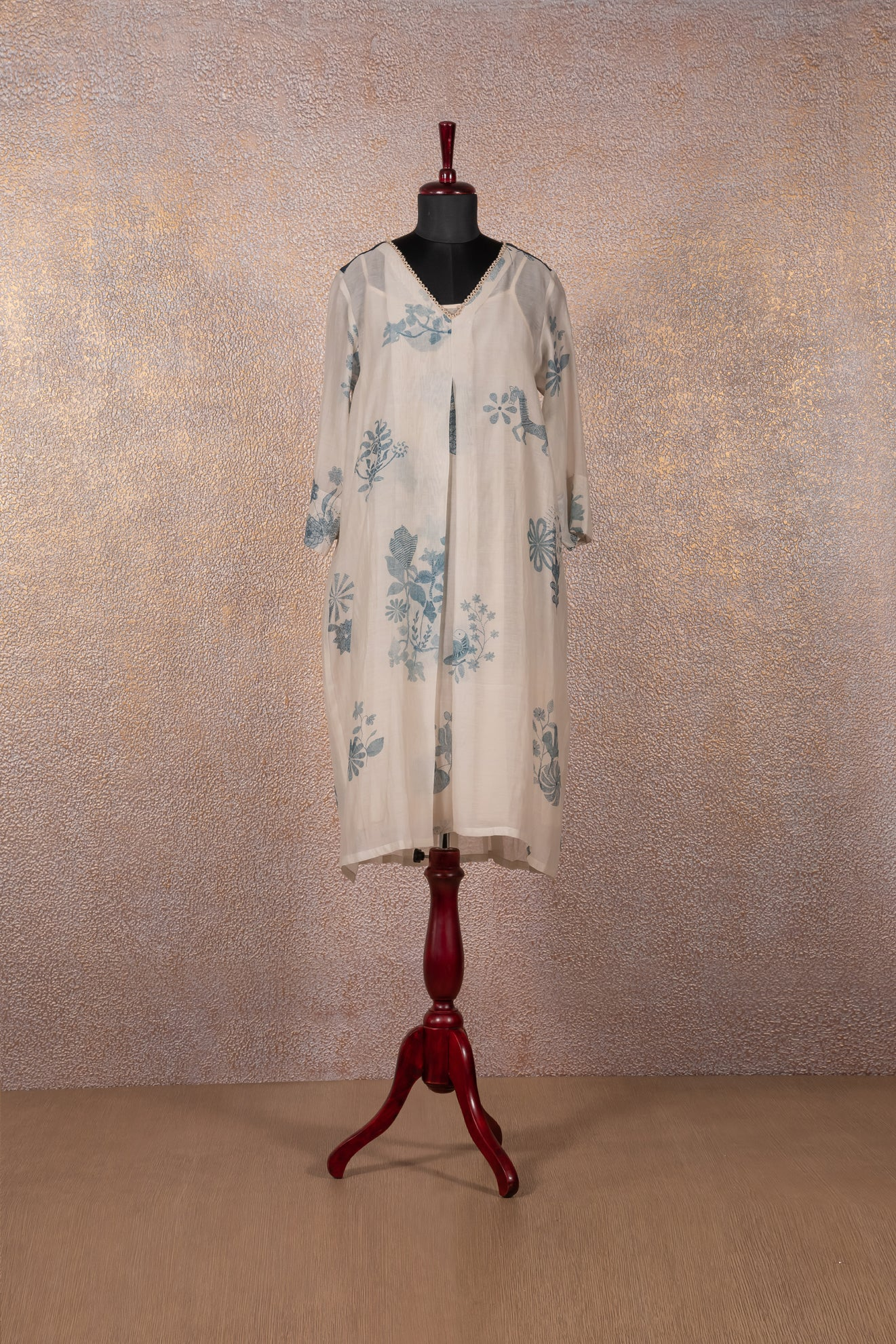 Ivory Printed Tunic