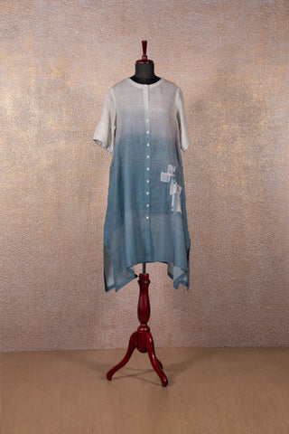 Shaded Blue Patch Tunic