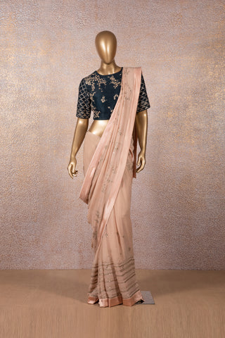 Blush Pink Sequins Saree