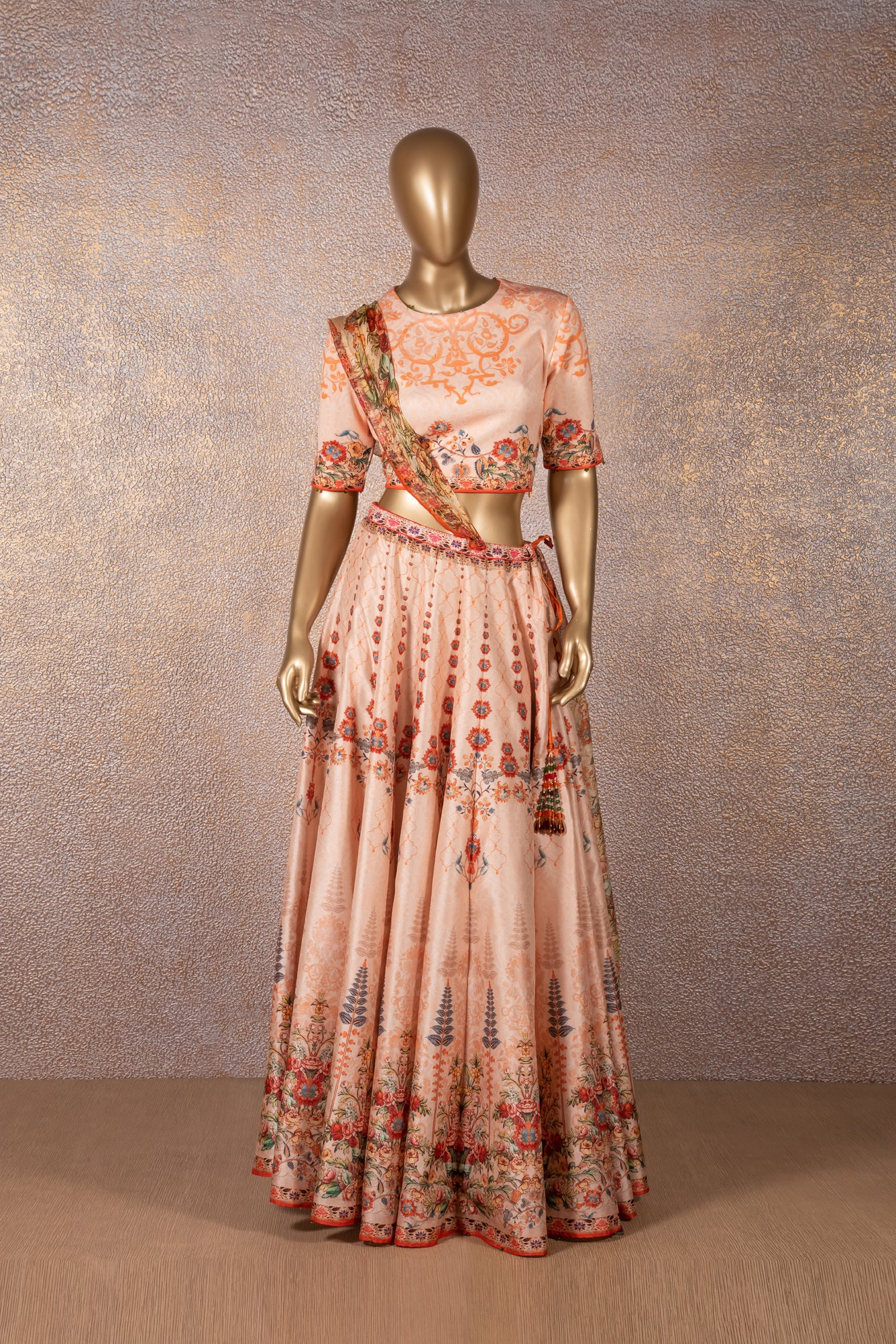 RAJDEEP RANAWAT - Peach Lehenga Set
