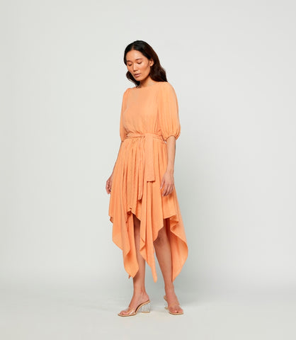 Peach Bloom Cotton Dress