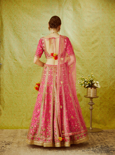 Carol Raw Silk Zardozi Embroidered Lehenga
