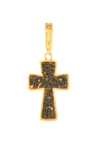 Onyx Stone Cross Whispers Pendant