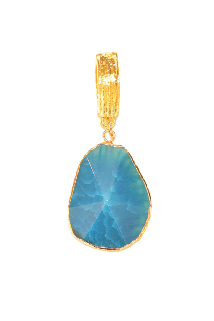 Blue Agate Faceted Whispers Pendant
