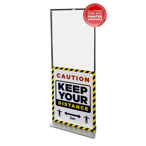 Floorstanding ClearView Sneeze shield with feet base - 800x2000mm