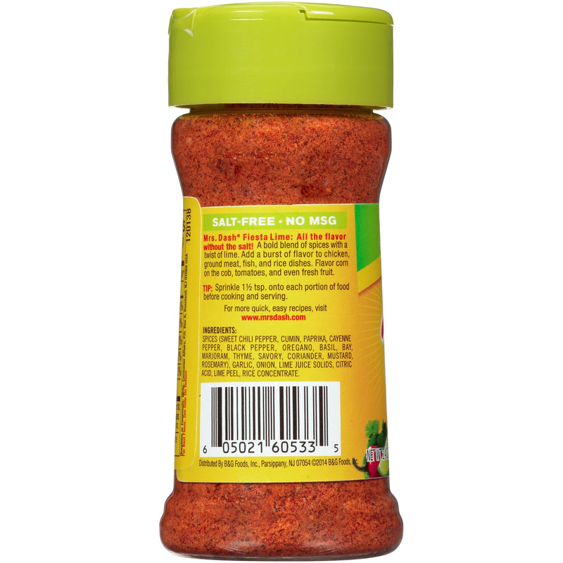 Mrs. Dash Fiesta Lime Salt-Free Seasoning Blend 68g