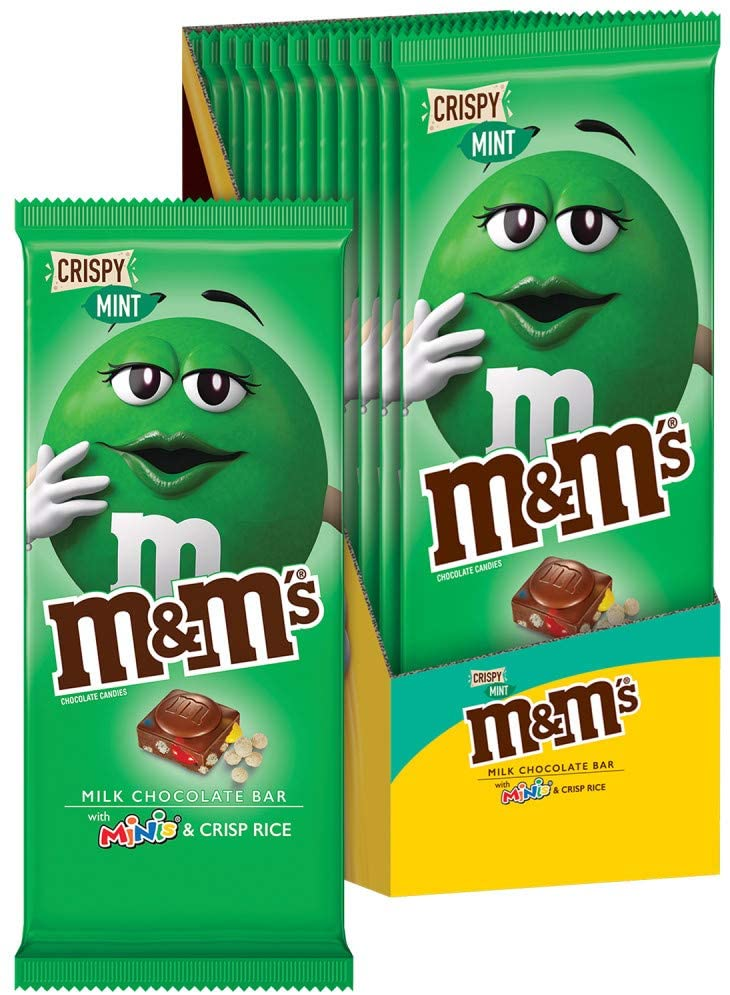 M&M's Crispy Mint & Minis Milk Chocolate Candy Bar 107.7g