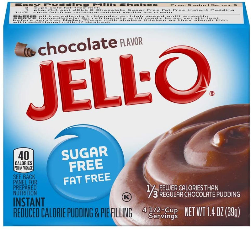 Jell-O Instant Sugar Free Fat Free Chocolate Pudding & Pie Filling 28g