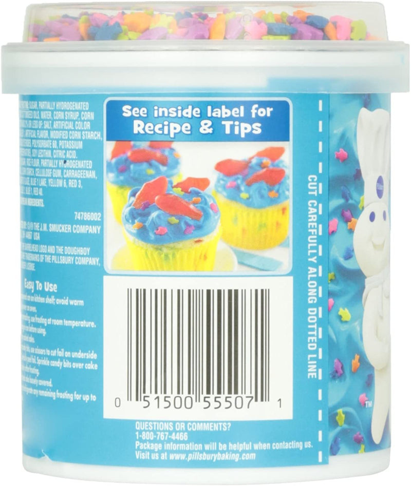 Pillsbury Happy Birthday Funfetti Aqua Blue Vanilla Frosting 442g