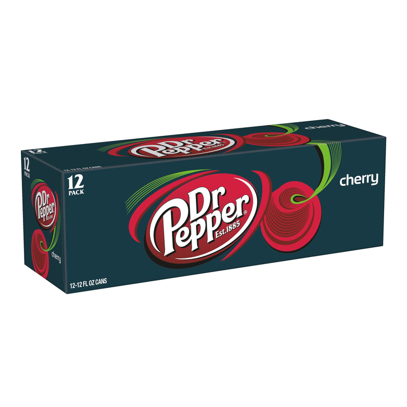 Dr Pepper Cherry Flavoured Soda 355Ml Pack Of 12 Drinks