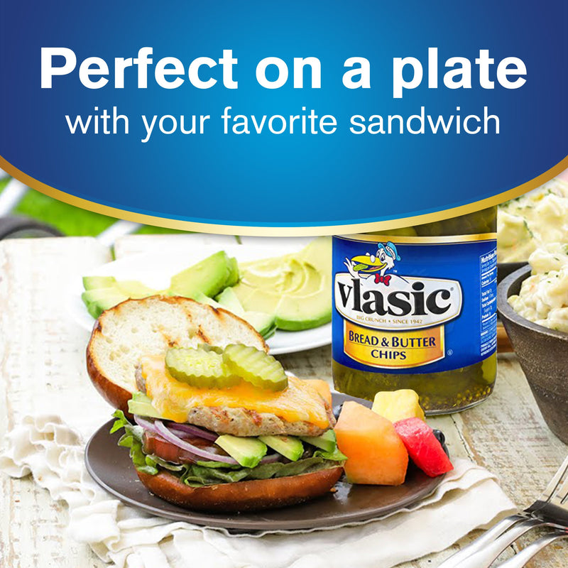 Vlasic Bread & Butter Pickle Chips 710ml