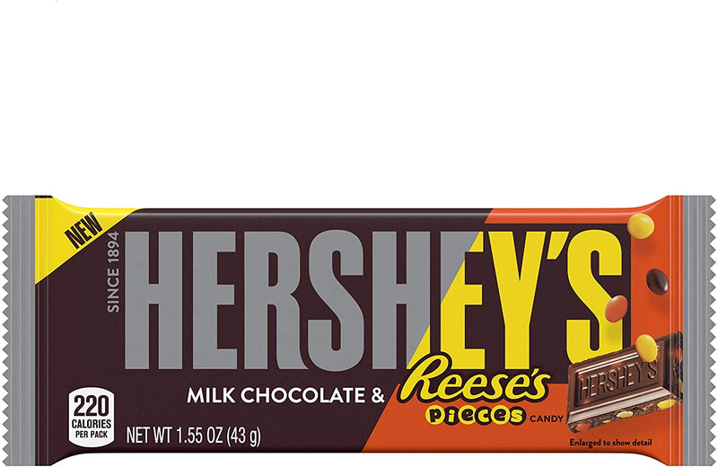 Hershey's Milk Chocolate & Reese's Pieces Candy Bar 43g
