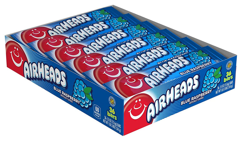 Airheads Blue Raspberry Candy Bar 15.6g