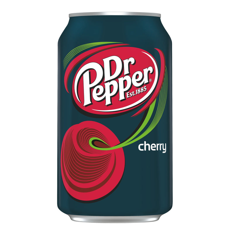 Dr Pepper Cherry Flavoured Soda 355Ml Drinks