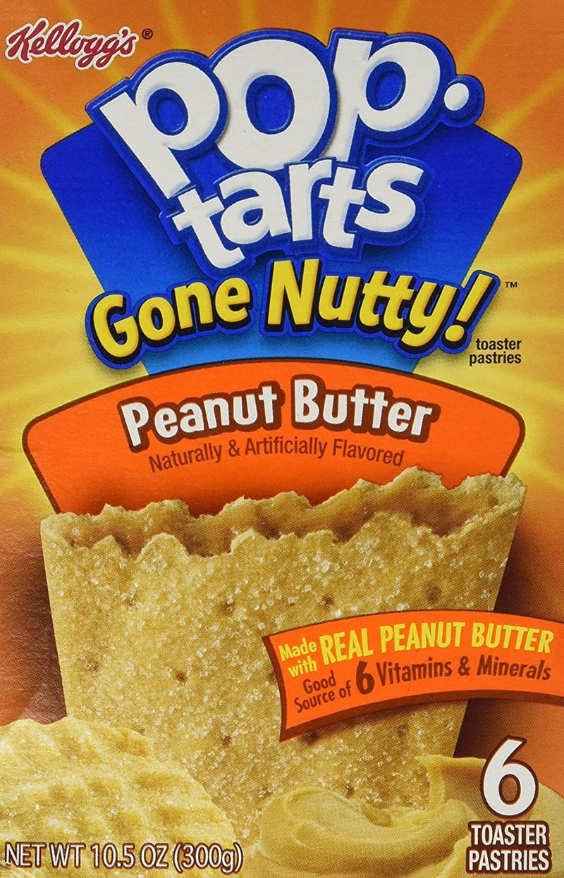 Kellogg's Pop Tarts Gone Nutty! Peanut Butter Toaster Pastries 300g