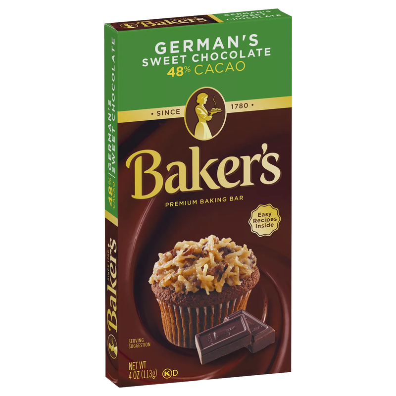 Baker's Premium Baking German's Sweet Chocolate 48% Cacao Bar 113g