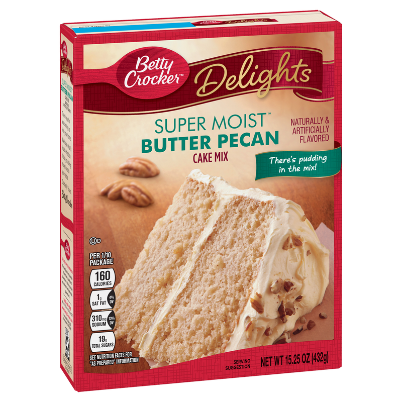 Betty Crocker Delights Super Moist Butter Pecan Cake Mix 432g