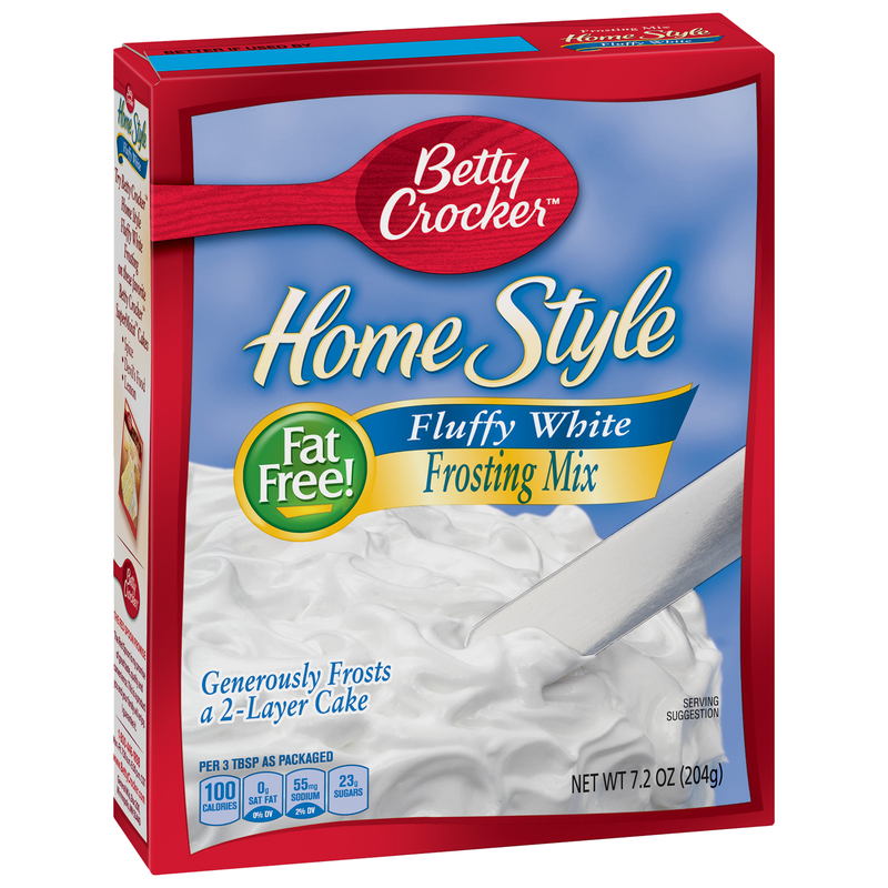 Betty Crocker Home Style Fat Free Fluffy White Frosting Mix 204g