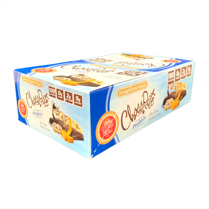 ChocoRite Caramel Cookie Dough Protein Bar 34g (Pack of 16)