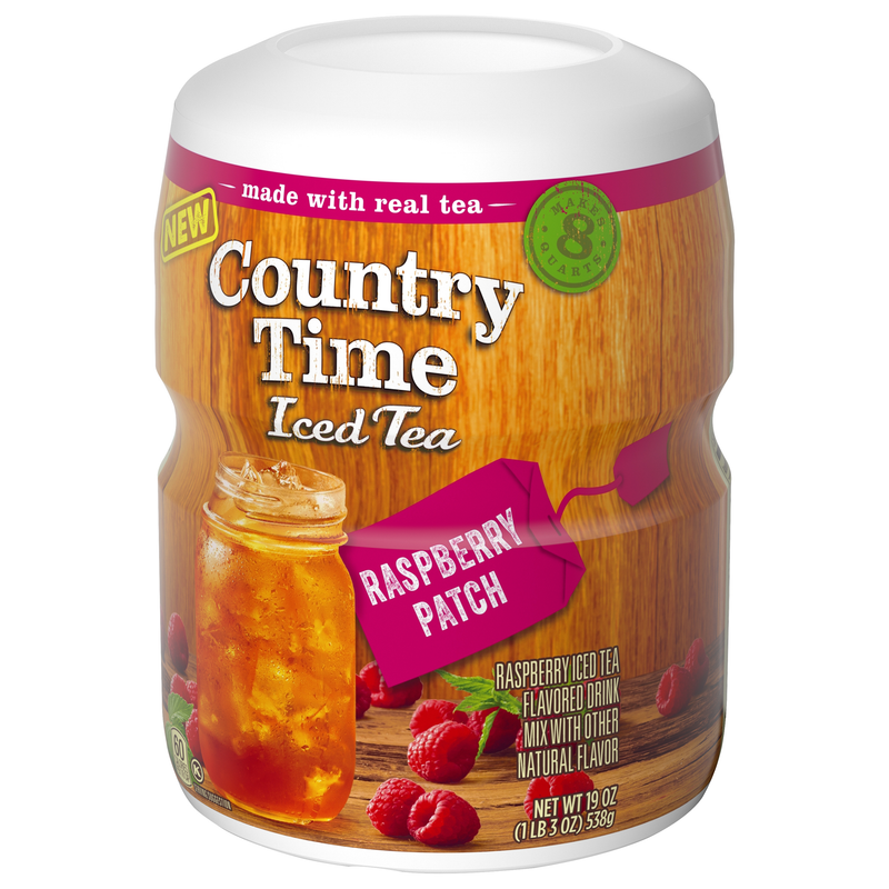 Country Time Iced Tea Raspberry Patch Drink Mix 538g