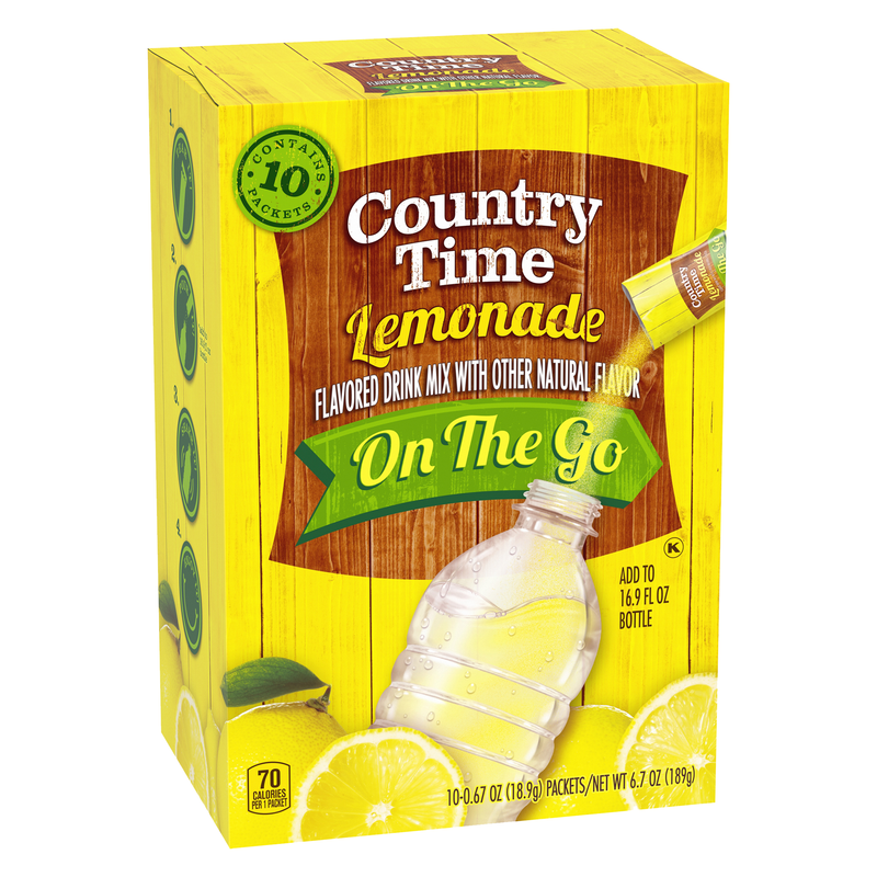 Country Time On The Go Lemonade  Drink Mix 189g